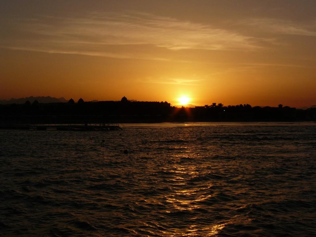 Hurghada Aegypten Sonnenuntergang