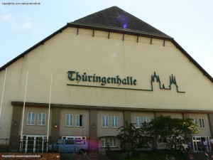 Thüringenhalle in der Werner-Seelenbinder-Strasse in Erfurt
